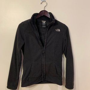 The North Face black fleece full zip jacket